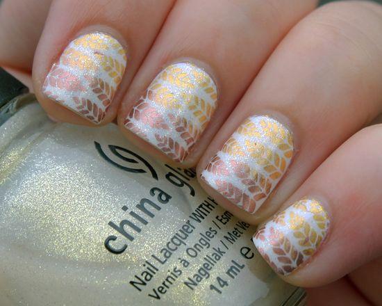 NOTD: My first fall manicure - Mories Nail Art - Nail Art Blog