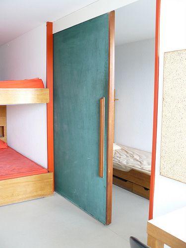 Le Corbusier . salon de l'unité d'habitation, Marseile