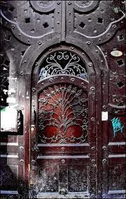 Decayed Art Nouveau Door, Budapest, Hungary