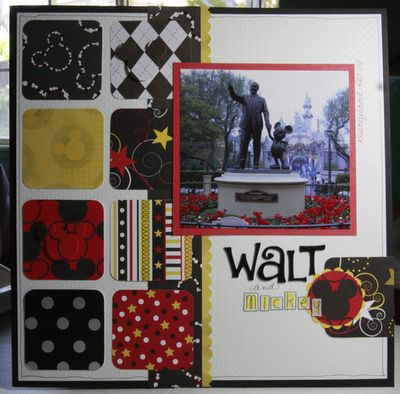 Walt, #papercraft #disney #scrapbook #layout Disney layout