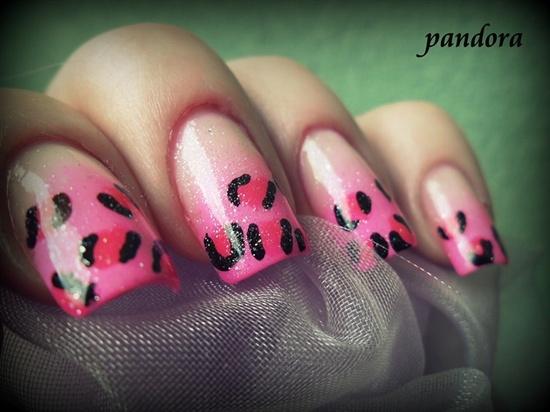 Pink leopard by pandora_nails - Nail Art Gallery nailartgallery.na... by Nails Magazine www.nailsmag.com #nailart