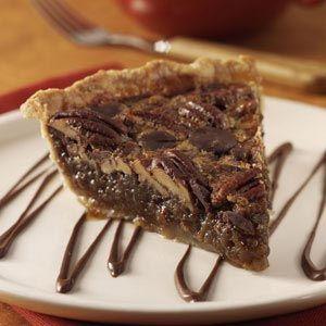 """Bourbon Chocolate Pecan Pie Recipe from Taste of Home""."