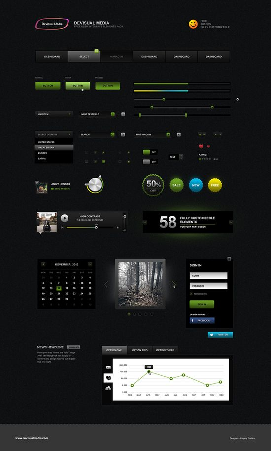Free user interface design pack
