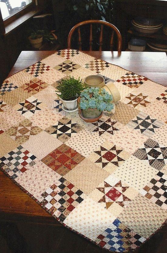 Primitive Folk Art Quilt Pattern:  Ohio Star Crossing