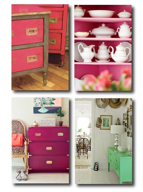 Painted Furniture, Bright Painted Furniture, Painted Office Furniture ...
