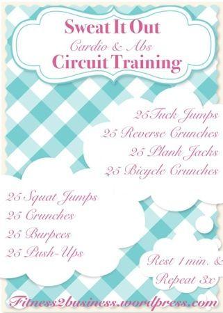 Workout Wednesdays!!  Cardio Ab Circuit Training!!  fitness2business.... #blog #blogging #workouts #exercises #fitness #health #cardio #abs #janaleefitness