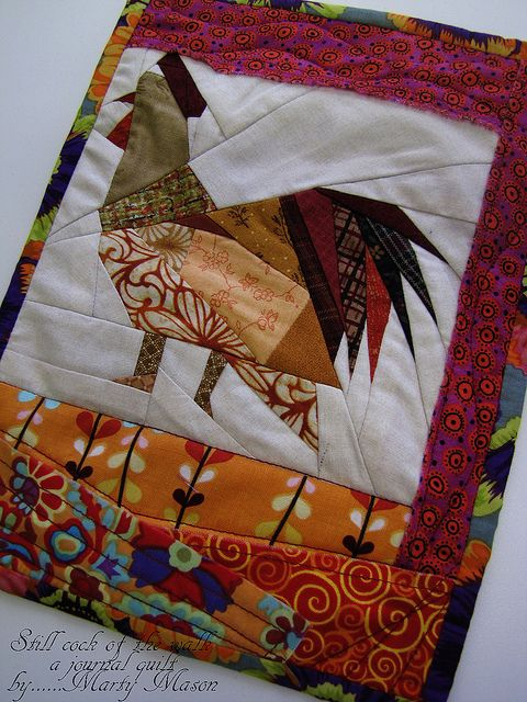 paper pieced rooster