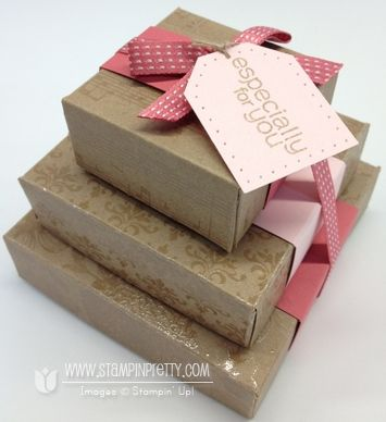 Stampin up pretty simply scored box tutorial