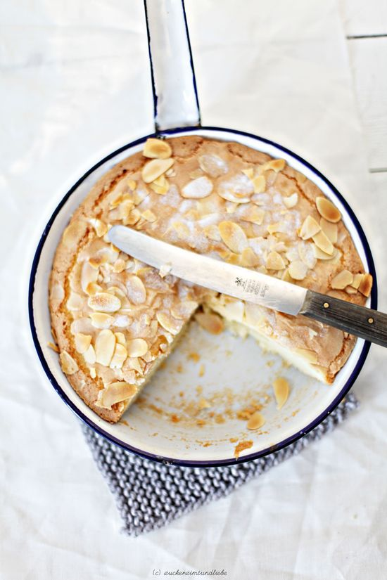 Swedish almond cake. #food #cakes #desserts