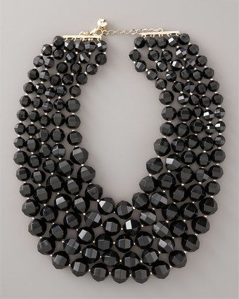 Black Bib Necklace by Kate Spade #Necklace #Kate_Spade #Black_Bib_Necklace