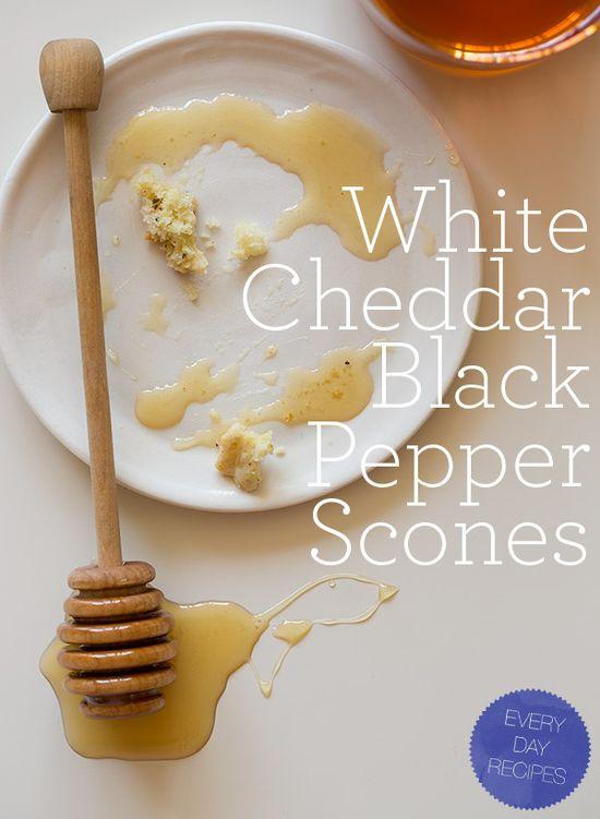 white cheddar pepper scones