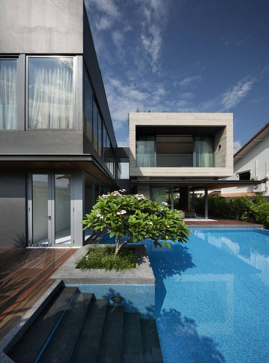 Travertine Dream House_Serangoon, Singapore by Wallflower Architecture + Design