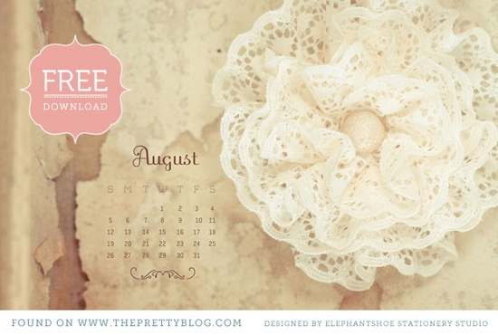 ThePrettyBlog monthly desktop wallpapers