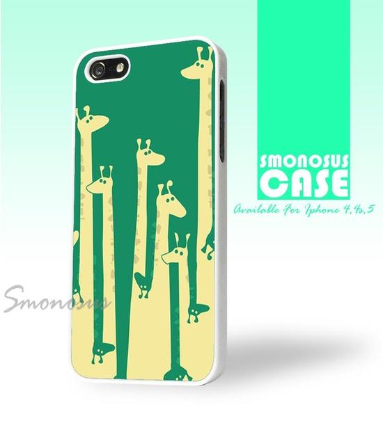 Green Giraffe - Iphone case for Iphone 4