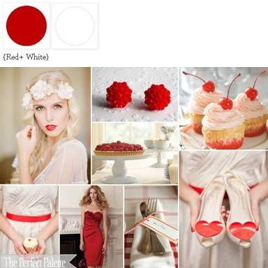 {With a Cherry on Top}: A Sweet Palette of Red + White Featuring Cherry Topped Cupcakes ? ow.ly/6hvmi xo