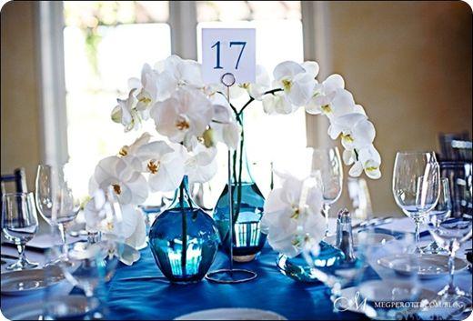 Orchid wedding centerpiece