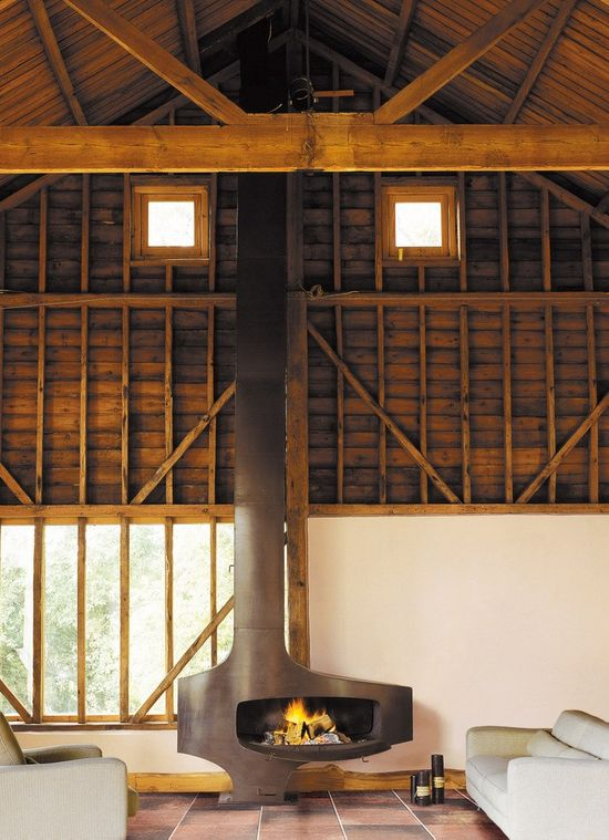 Wood-burning #fireplace HETEROFOCUS by Focus