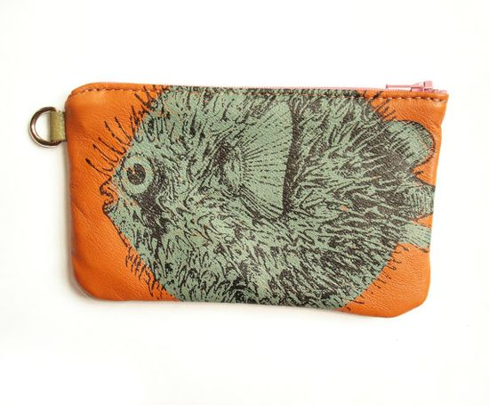 Puffer Fish Phone Case in Pumpkin by bonspielcreation, $29.00