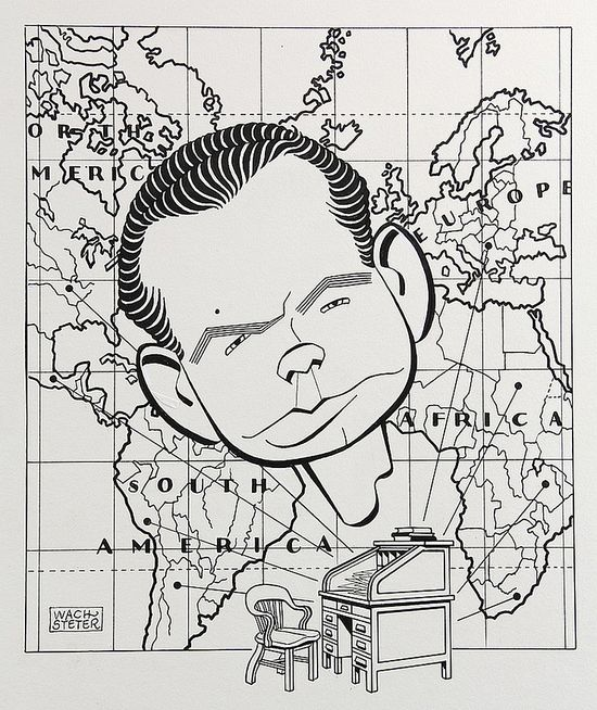David Brinkley by George Wachsteter