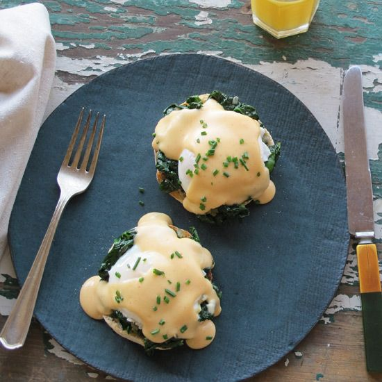 Eggs Florentine with Smoky Mornay Sauce // More Egg Breakfasts: www.foodandwine.c... #foodandwine