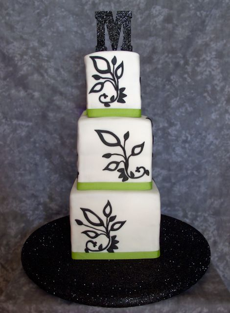 Black And Green Wedding Cakes - Birthday Cake Center: Special Black and White and Green Wedding Cakes