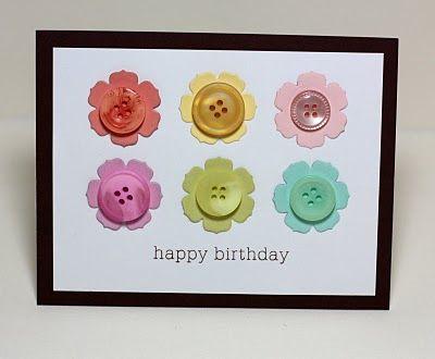 Flower button card