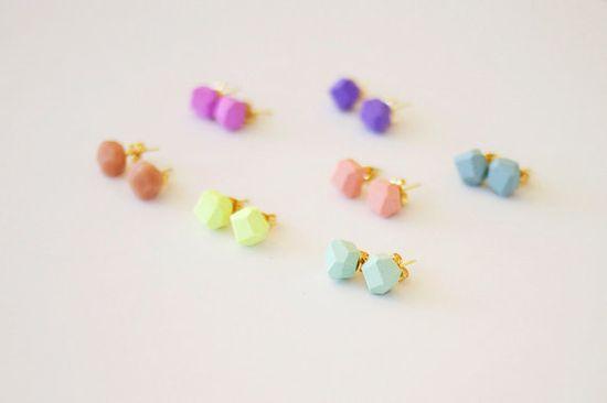 mint geo earrings my AMM jewelry