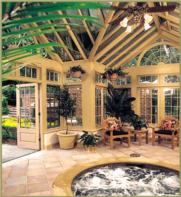 Interior of poolhouse Georgian conservatory