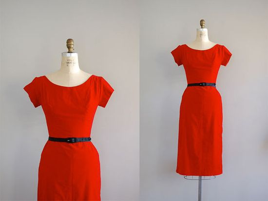 1950s Amour Fou dress    #vintage #red dress #holiday dress #cocktail dress #1950s #50s