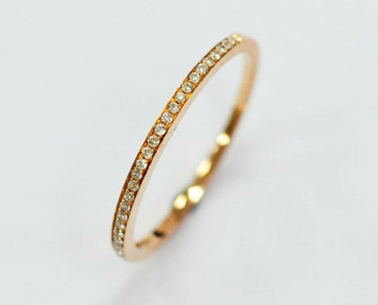 DREAM RING // to stack with my wedding rings // Half Eternity Diamond Band In 14K Rose Gold