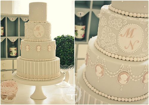 Cameo wedding cake