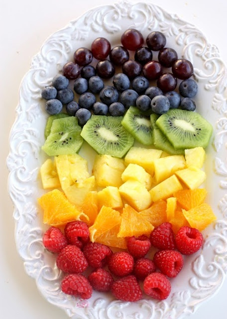 rainbow fruit assortment...