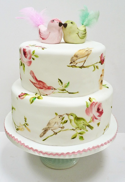 bird cake by Nevie-PieCakes, via Flickr