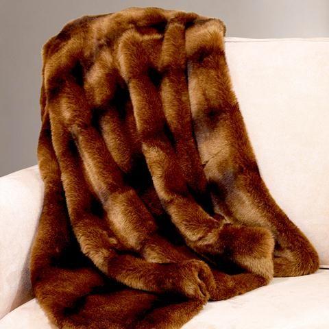 Apartment Decor: A Chocolate Faux Fur Throw - want!