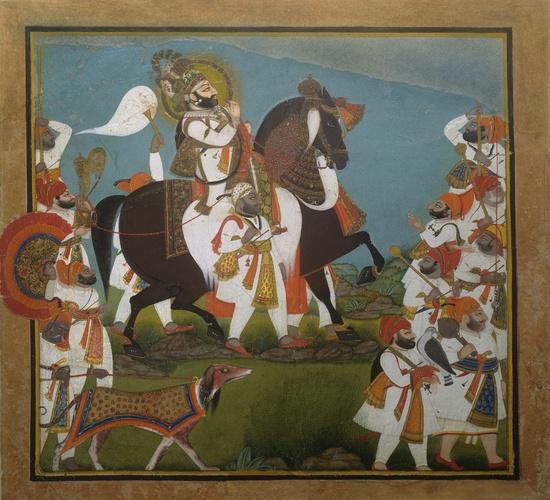 Maharana Bhim Singh and Retinue Go to a Hunt