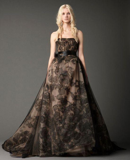 Vera Wang's bewitching black wedding dresses