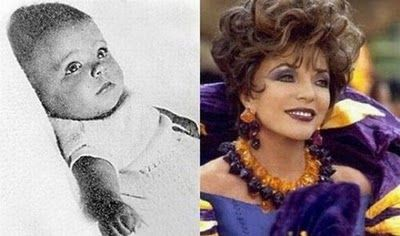 Celebrities When They Were Kids - Joan Collins - Seen On www.coolpicturega...
