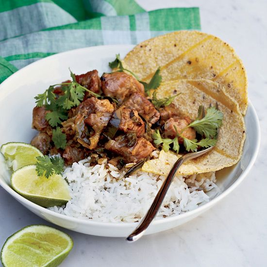 Pork-and-Green Chile Stew // More Tasty Pork Recipes: www.foodandwine.c... #foodandwine
