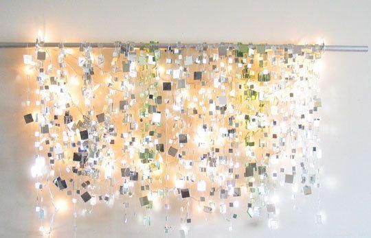 mirror garland and white lights