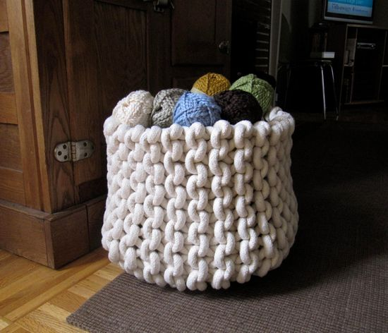 Need to learn to hand knit with rope!