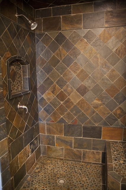 cleaning slate tile shower floor and maintenance with slate bathroom