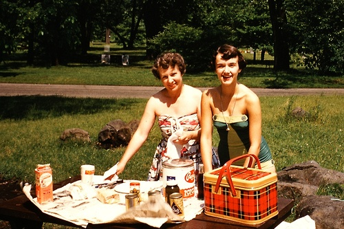 Ladies who picnic, 1950s.