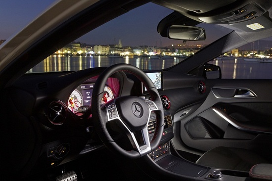 Mercedes Benz A 250 Sport Interior ... The competition to the next generation Volkswagen Golf GTI MKVII