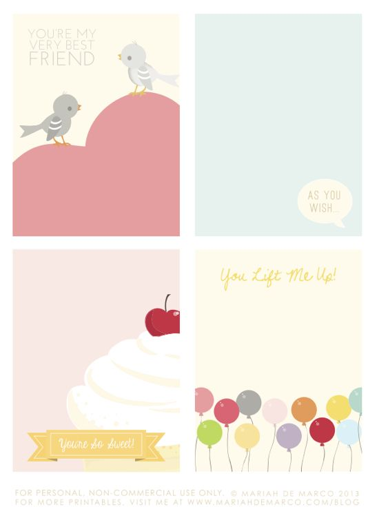 """Free Valentine Printables {fun} - Perfect for Project Life - Love the """"as you wish"""" card"""