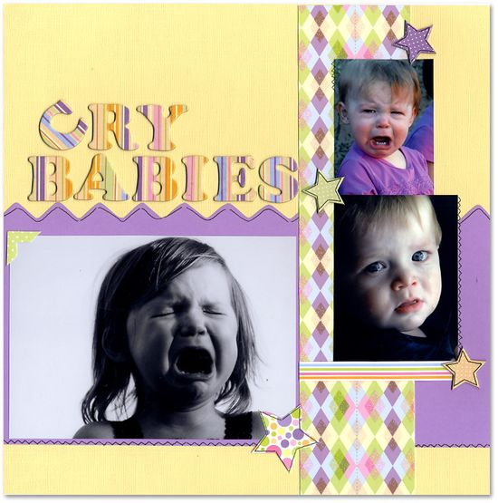 Cry Babies - Scrapbook.com - #scrapbooking #layouts