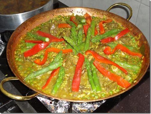 Paella de cordeiro especial do Marcão.  #cook #recipe #paella