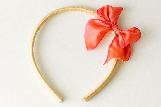 A Bow Headband - a diy hair accessory