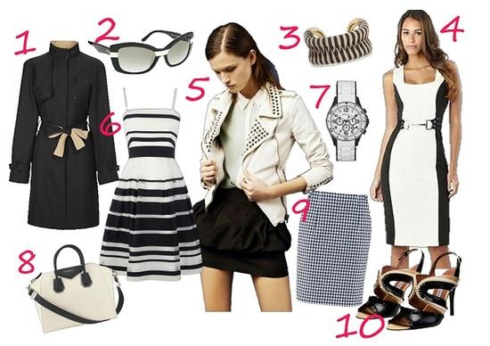 black & white fashion for summer