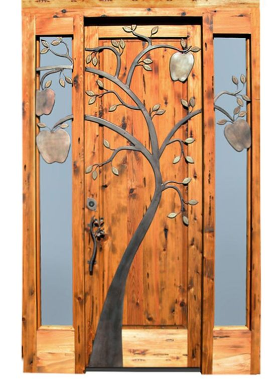 We have craftsman here in NC that probably designed and executed this door. You see a lot of this kind of work in the mountains at gated communities and private homes.