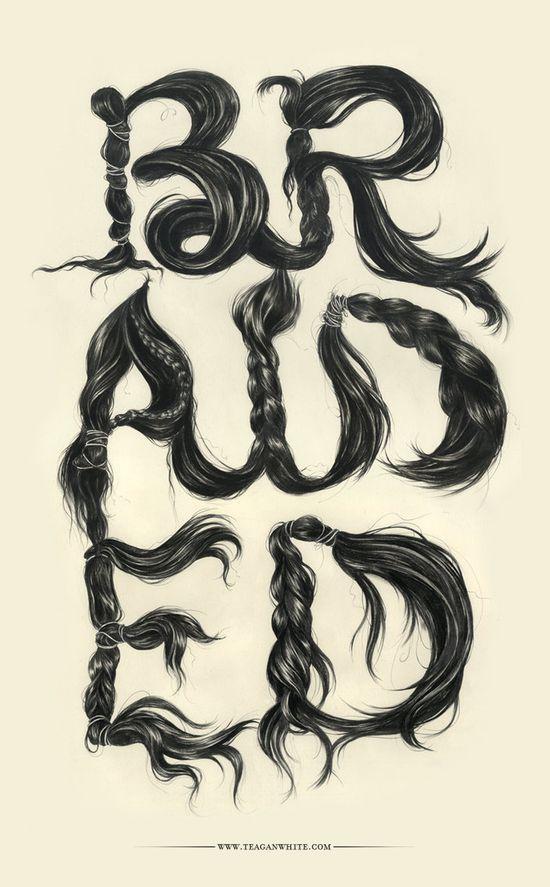 braided  hair script art by *lostsoulx44